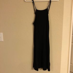 Strappy High-Neck Ribbed Dress